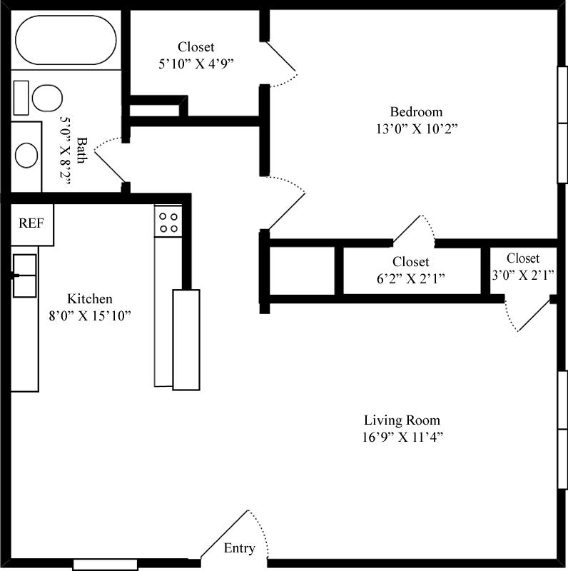 1 Bedroom 1 Bathroom Apartment for rent at Buffalo Ridge in Princeton, TX