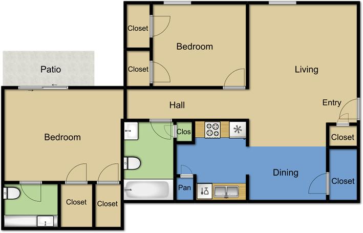 2 Bedrooms 2 Bathrooms Apartment for rent at Vista Park Apartments in Dallas, TX