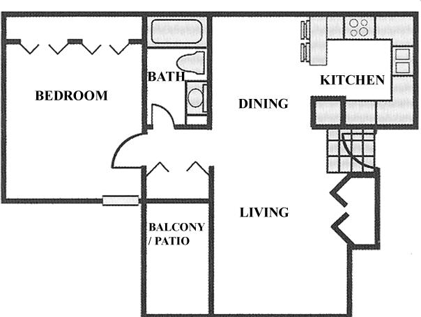 1 Bedroom 1 Bathroom Apartment for rent at Highlands Of Duncanville in Duncanville, TX