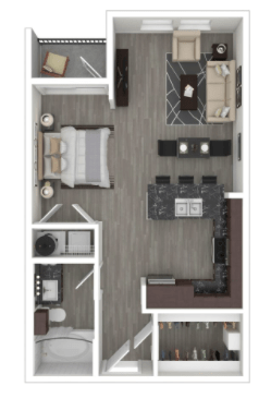 Studio 1 Bathroom Apartment for rent at Milwee Street in Houston, TX