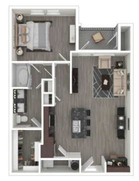 1 Bedroom 1 Bathroom Apartment for rent at Milwee Street in Houston, TX
