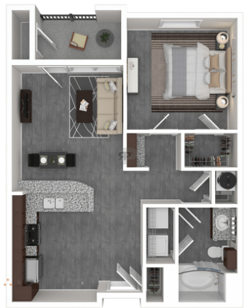 1 Bedroom 1 Bathroom Apartment for rent at Oaks At Wayside in Houston, TX
