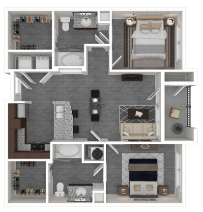 2 Bedrooms 2 Bathrooms Apartment for rent at Oaks At Wayside in Houston, TX