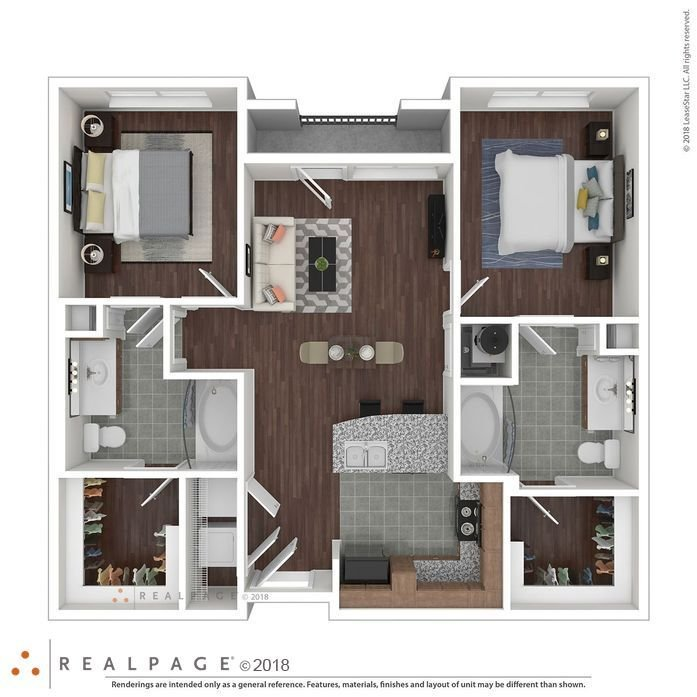 2 Bedrooms 2 Bathrooms Apartment for rent at Hollister Oaks in Houston, TX