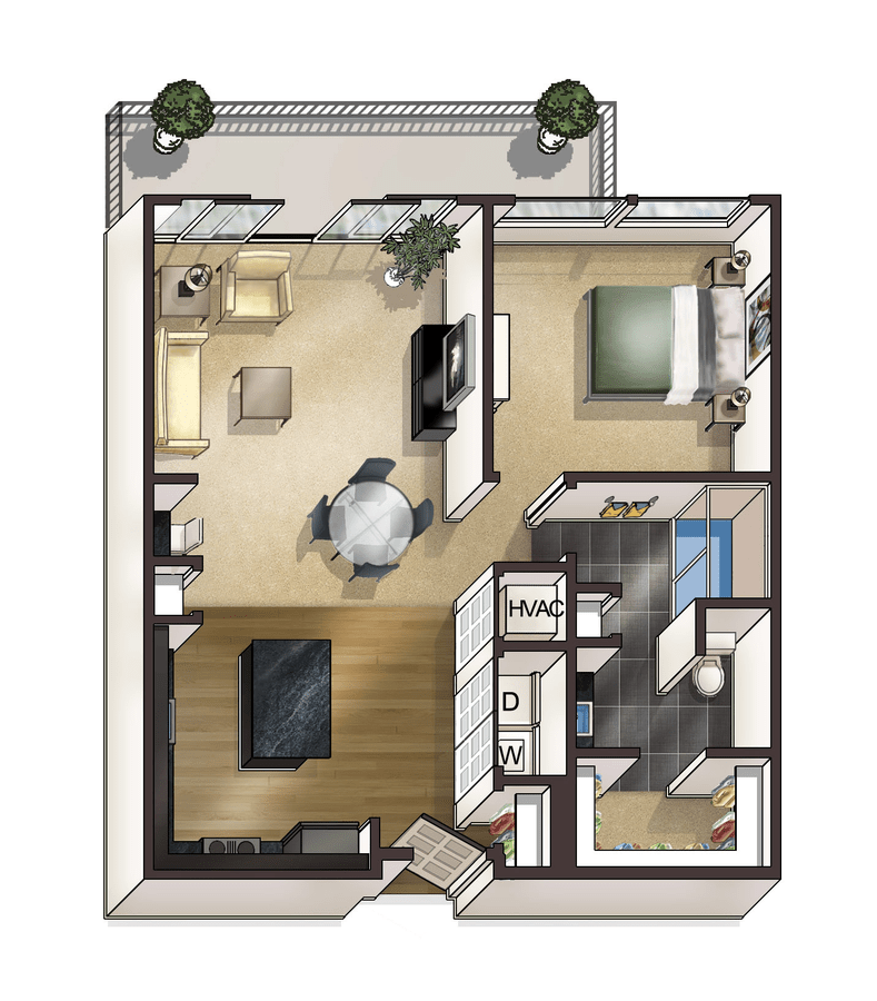 1 Bedroom 1 Bathroom Apartment for rent at Bellrock Bishop Arts in Dallas, TX