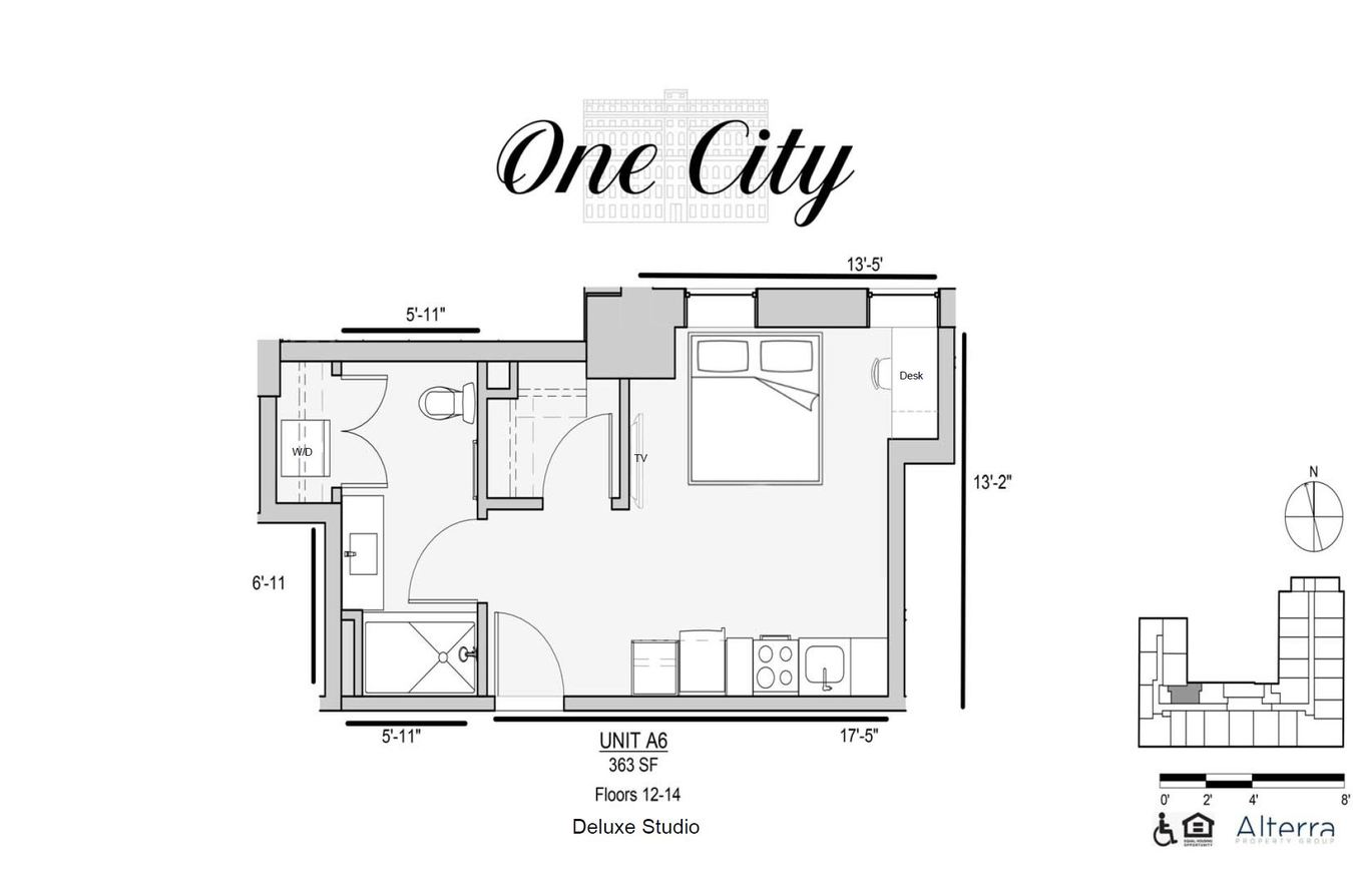 Studio 1 Bathroom Apartment for rent at One City in Philadelphia, PA