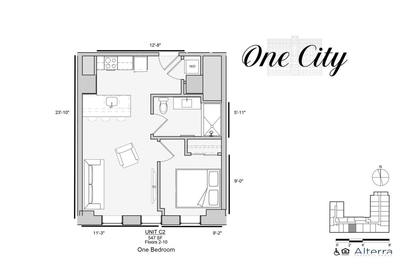 1 Bedroom 1 Bathroom Apartment for rent at One City in Philadelphia, PA