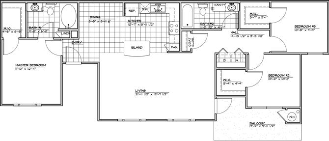 3 Bedrooms 2 Bathrooms Apartment for rent at Costa Mirada in San Antonio, TX