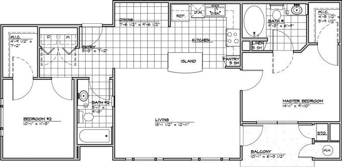 2 Bedrooms 2 Bathrooms Apartment for rent at Costa Mirada in San Antonio, TX