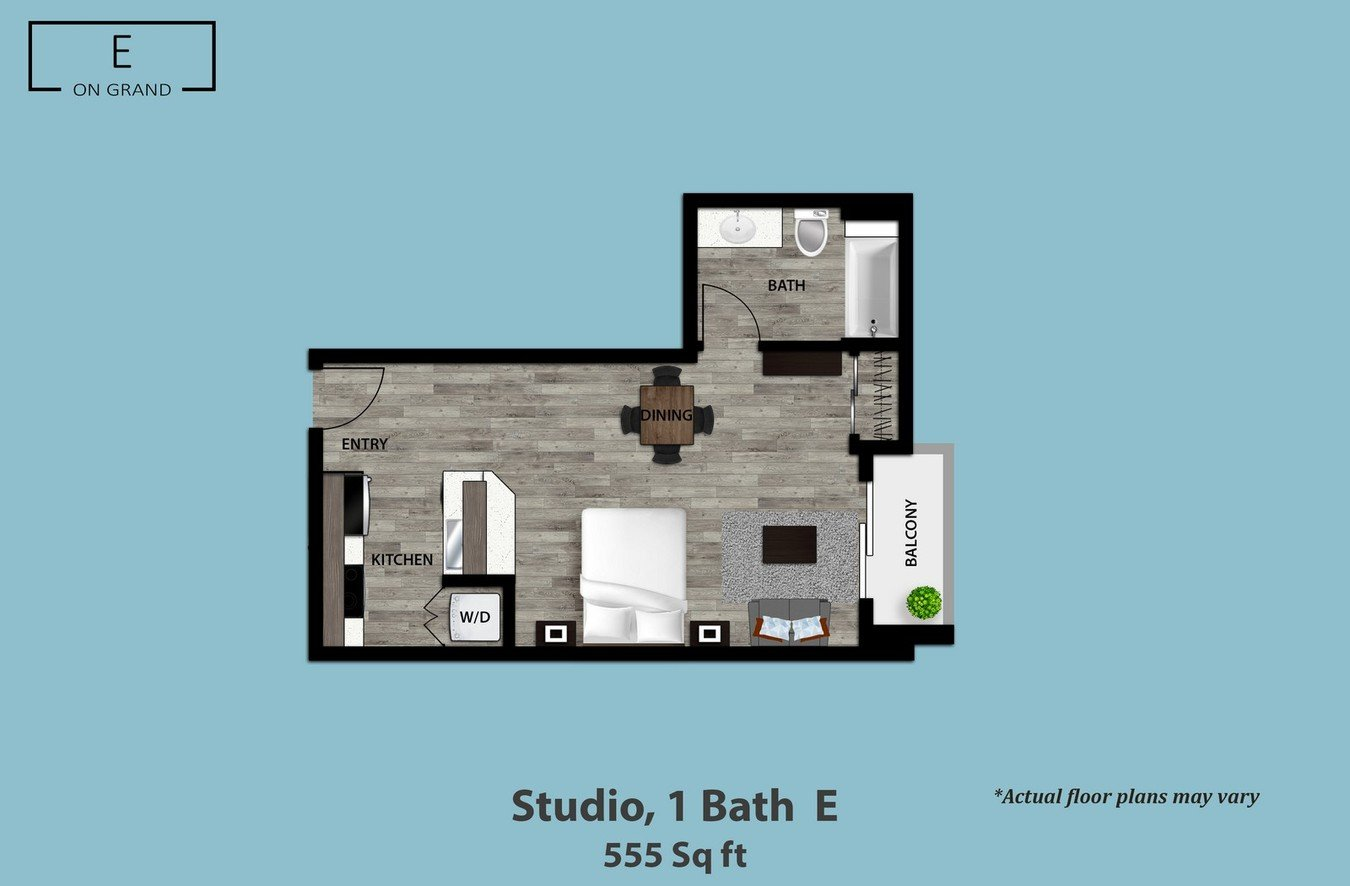 Studio 1 Bathroom Apartment for rent at E on Grand in Los Angeles, CA