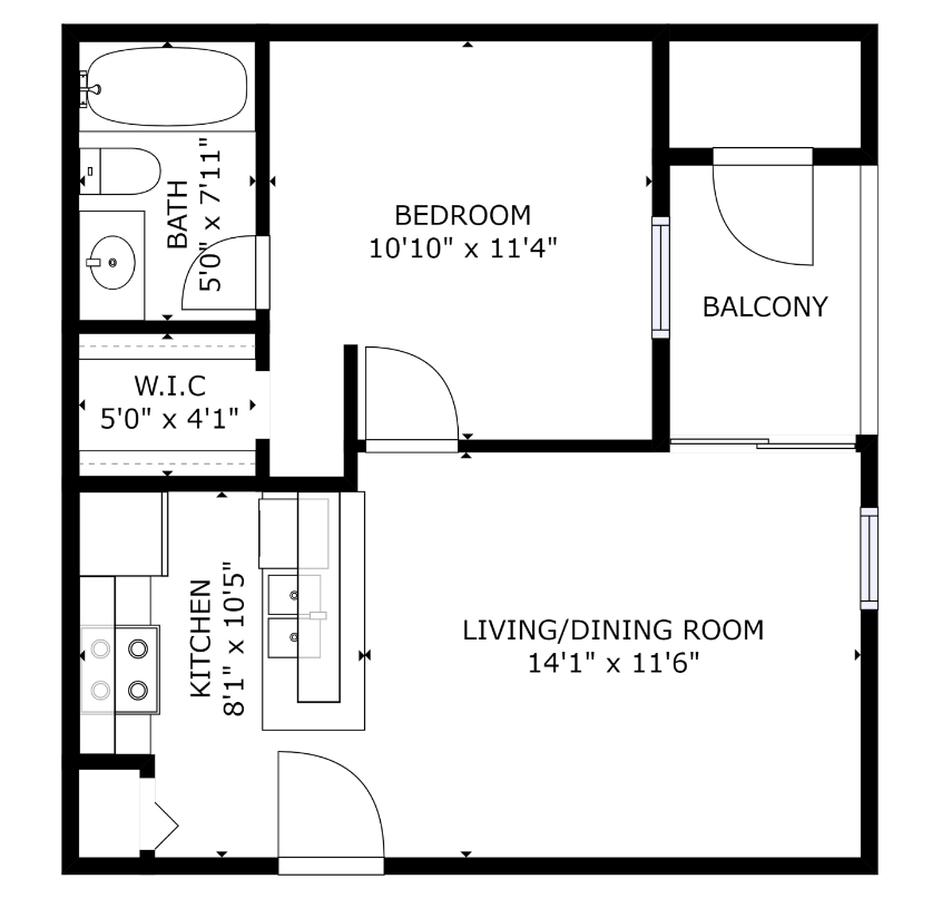 1 Bedroom 1 Bathroom Apartment for rent at The Emerson in Dallas, TX