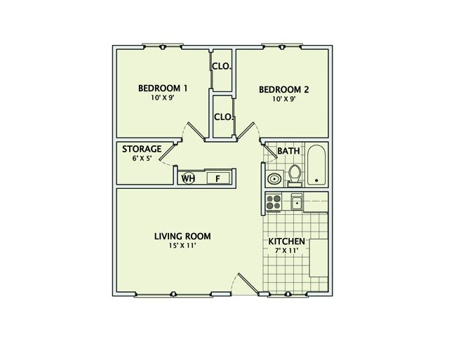 2 Bedrooms 1 Bathroom Apartment for rent at Healey Street in Champaign, IL