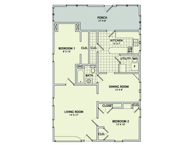 2 Bedrooms 1 Bathroom Apartment for rent at Prairie Houses in Champaign, IL