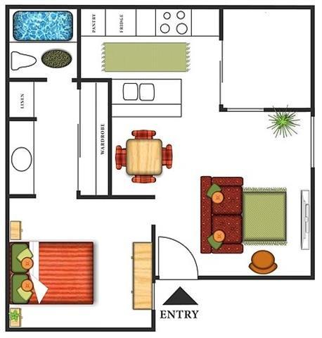 1 Bedroom 1 Bathroom Apartment for rent at Park Mesa Villas in Costa Mesa, CA