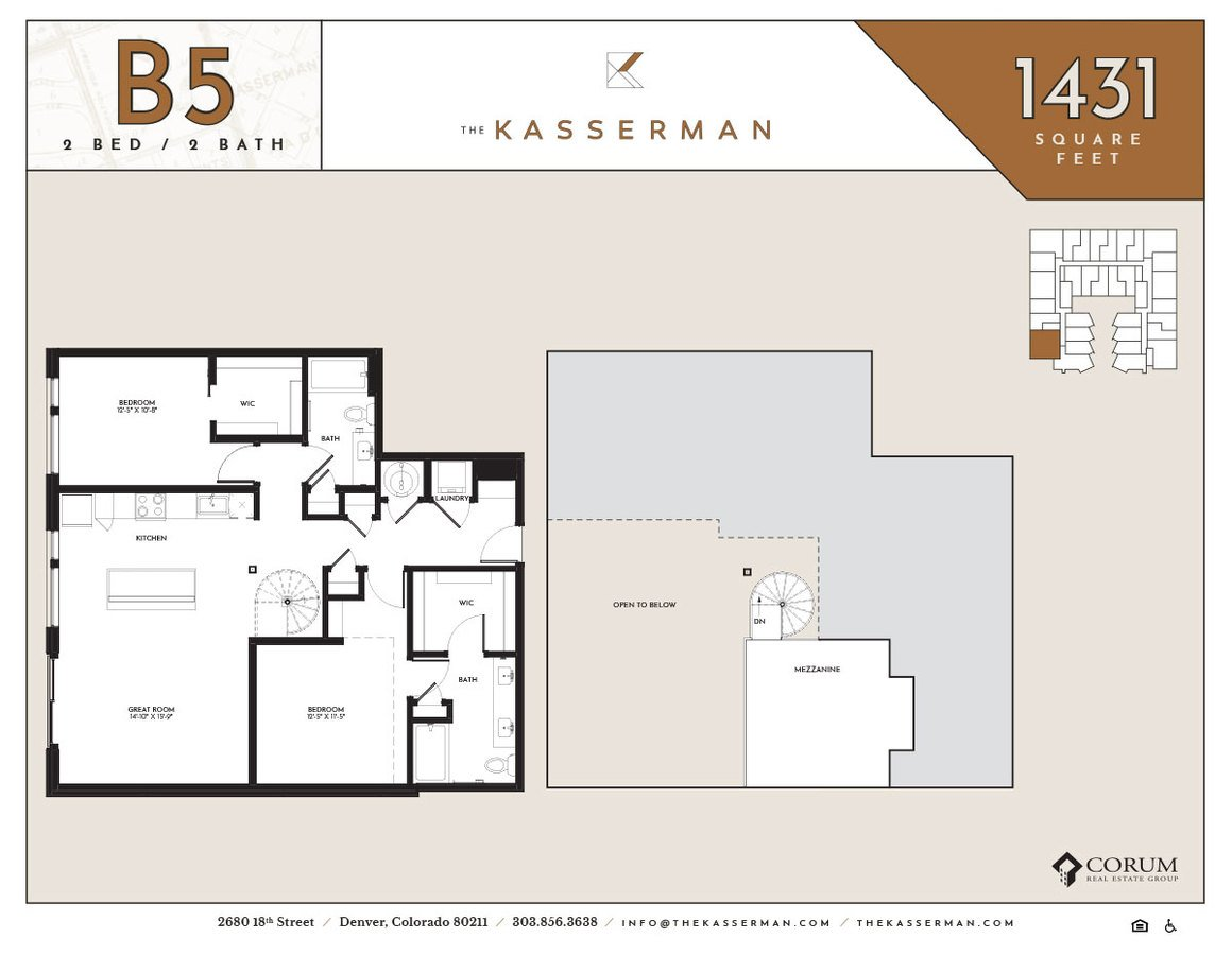 2 Bedrooms 2 Bathrooms Apartment for rent at The Kasserman in Denver, CO