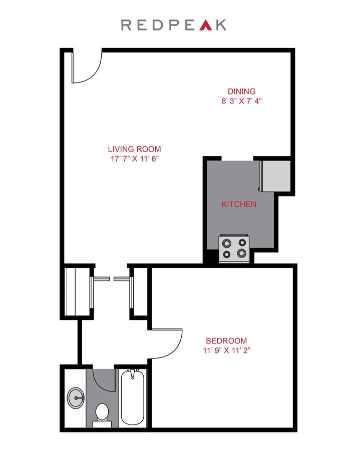 1 Bedroom 1 Bathroom Apartment for rent at 833 Dexter in Denver, CO