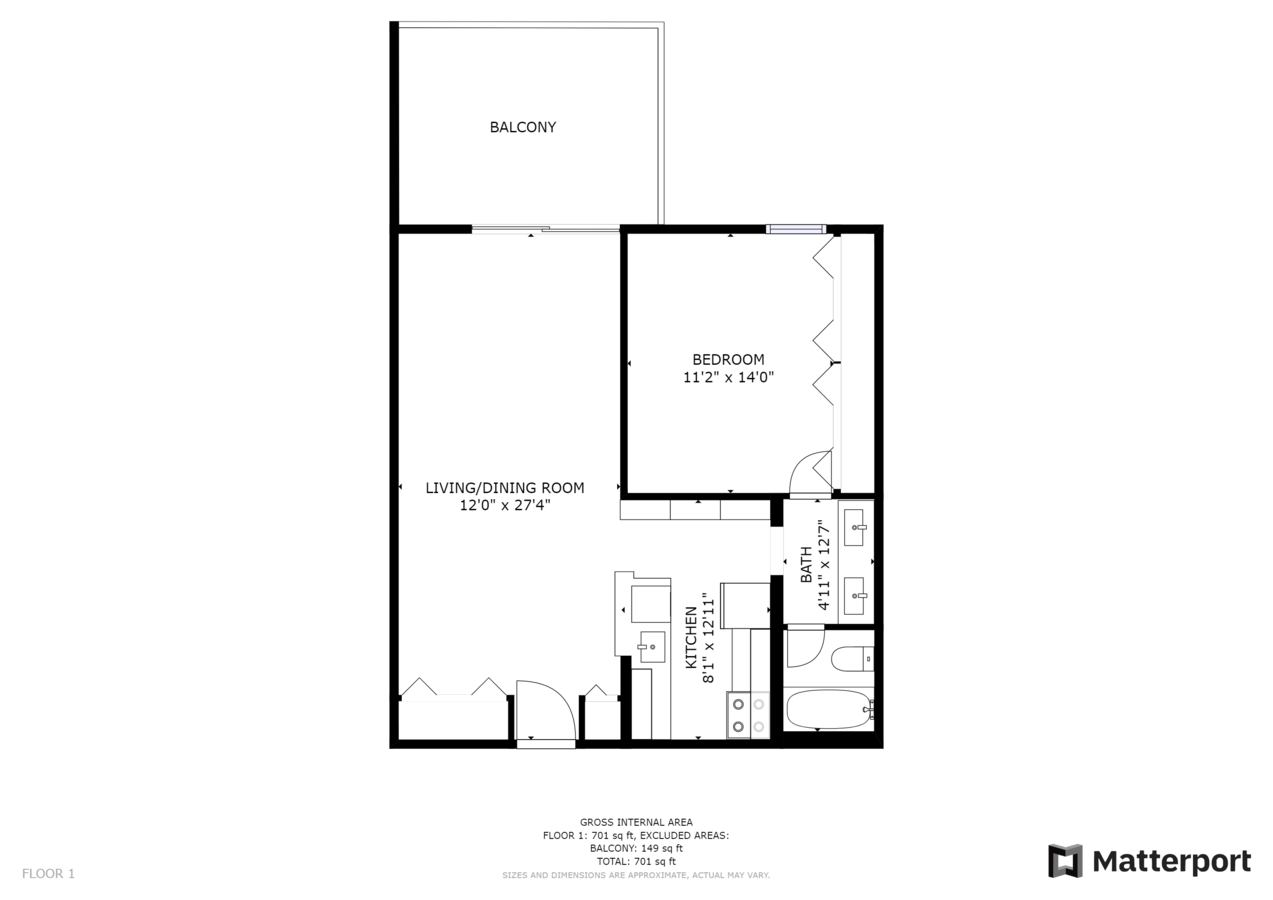 1 Bedroom 1 Bathroom Apartment for rent at 10 Emerson in Denver, CO