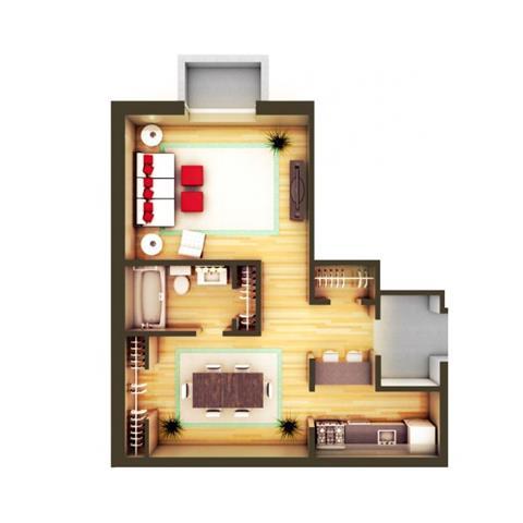 Studio 1 Bathroom Apartment for rent at 825 Dahlia in Denver, CO