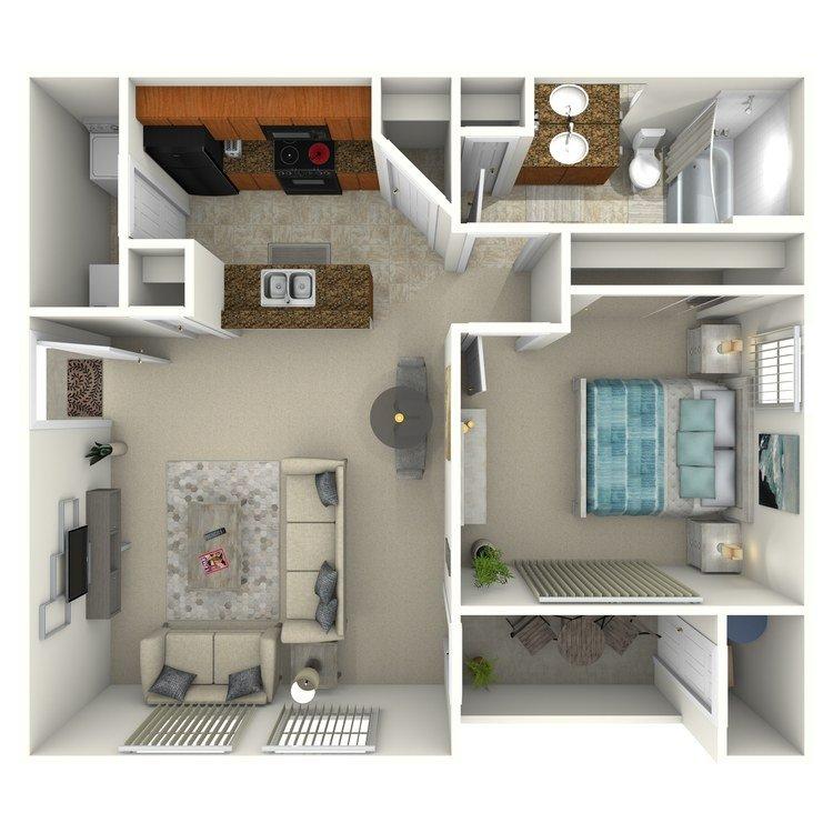 1 Bedroom 1 Bathroom Apartment for rent at Colonia Del Sol Apartments in Phoenix, AZ