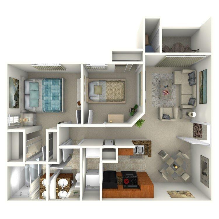 2 Bedrooms 1 Bathroom Apartment for rent at Colonia Del Sol Apartments in Phoenix, AZ