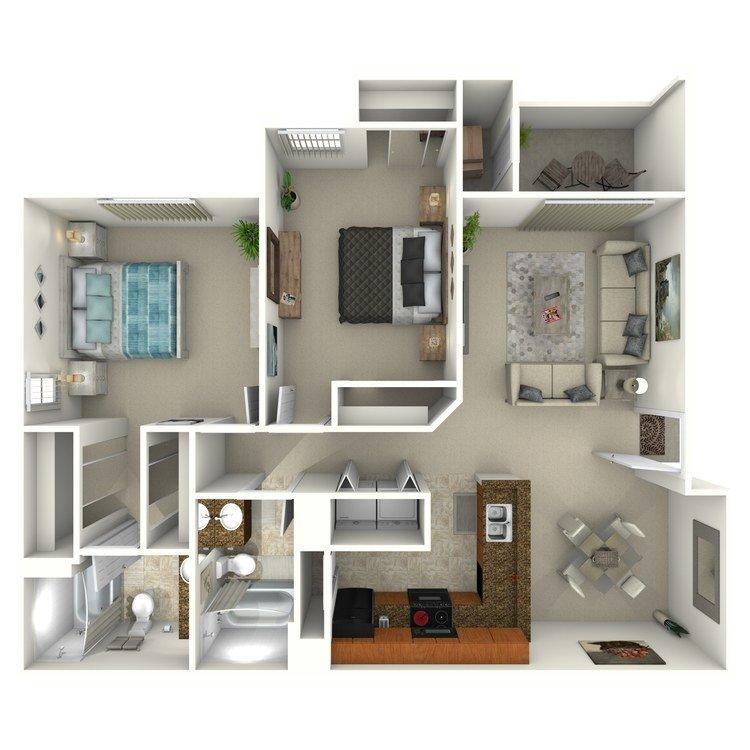 2 Bedrooms 2 Bathrooms Apartment for rent at Colonia Del Sol Apartments in Phoenix, AZ