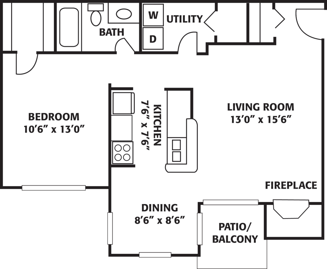 1 Bedroom 1 Bathroom Apartment for rent at The Park At Caterina in Charlotte, NC