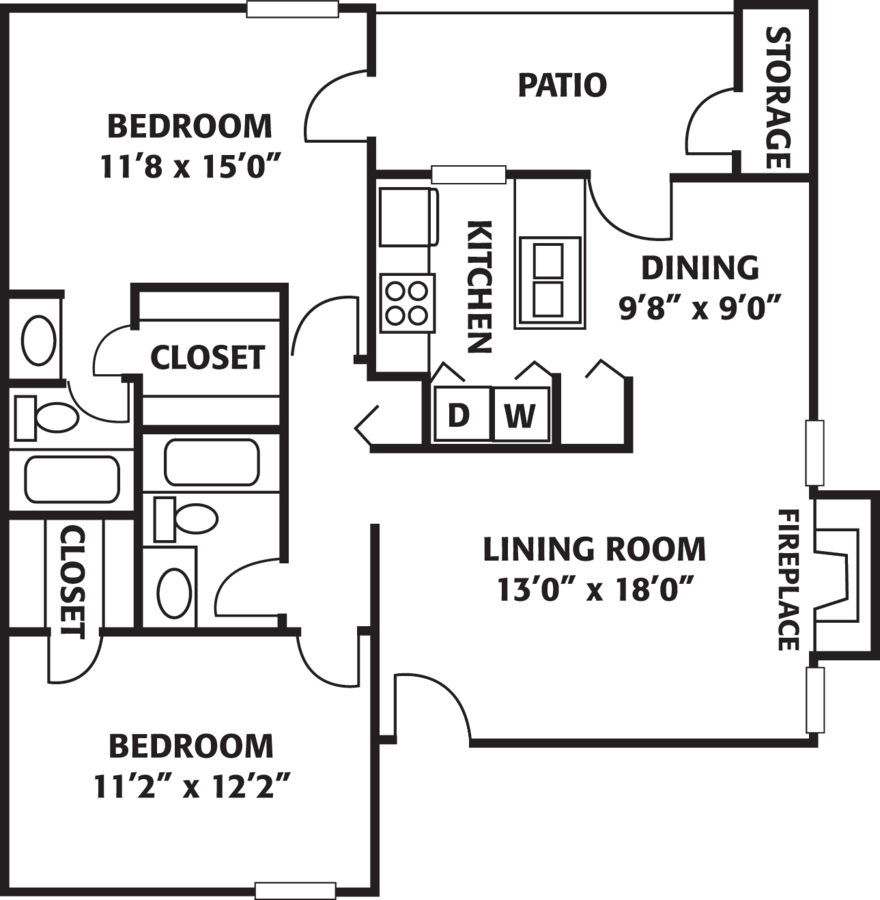 2 Bedrooms 2 Bathrooms Apartment for rent at The Park At Ferentino in Charlotte, NC