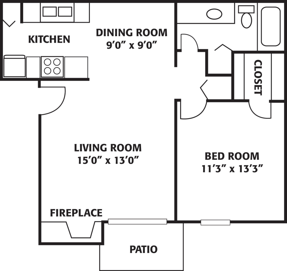 1 Bedroom 1 Bathroom Apartment for rent at The Park At Ferentino in Charlotte, NC