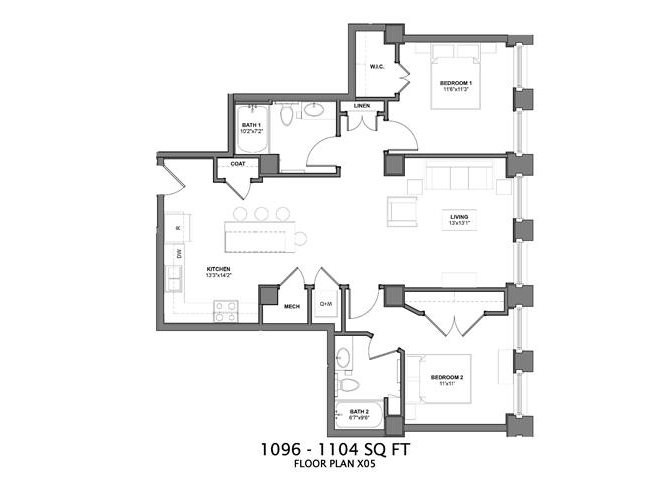 2 Bedrooms 2 Bathrooms Apartment for rent at Arcade Apartments in St Louis, MO