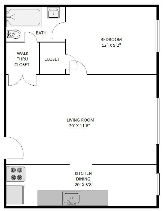 1 Bedroom 1 Bathroom Apartment for rent at The Denver Biltmore in Denver, CO