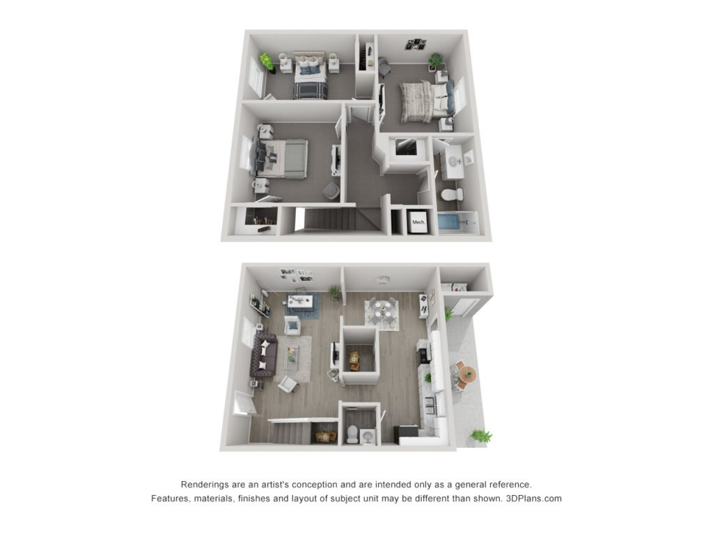 3 Bedrooms 2 Bathrooms Apartment for rent at Charlotte 360 Apartments in Charlotte, NC