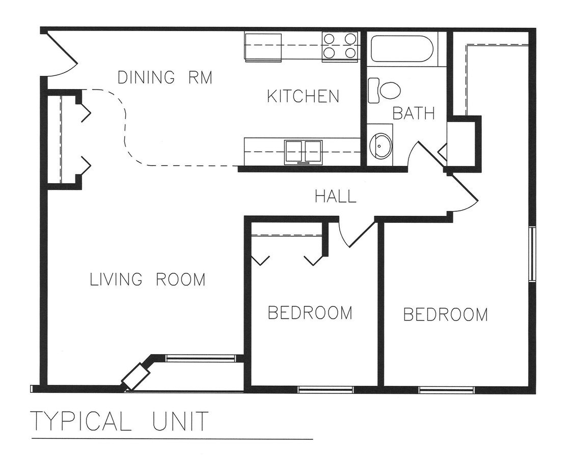 2 Bedrooms 1 Bathroom Apartment for rent at Cardinal Estates in Morris, MN