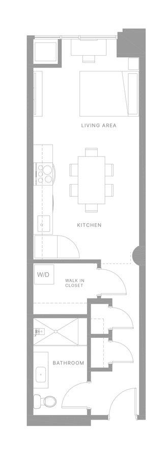 Studio 1 Bathroom Apartment for rent at The Poplar in Philadelphia, PA