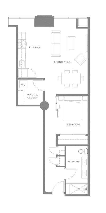 1 Bedroom 1 Bathroom Apartment for rent at The Poplar in Philadelphia, PA