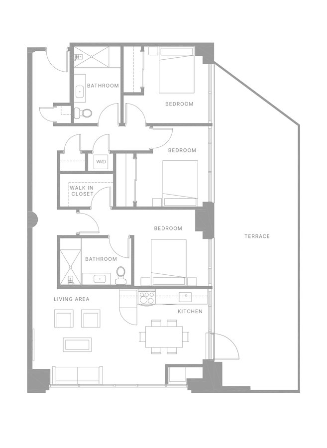 3 Bedrooms 3 Bathrooms Apartment for rent at The Poplar in Philadelphia, PA