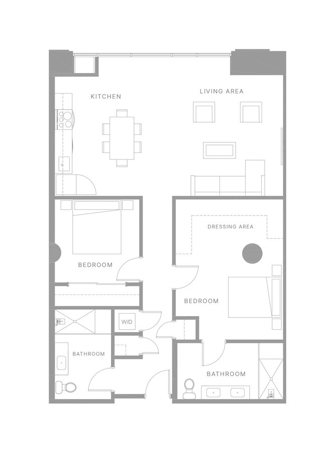 2 Bedrooms 2 Bathrooms Apartment for rent at The Poplar in Philadelphia, PA