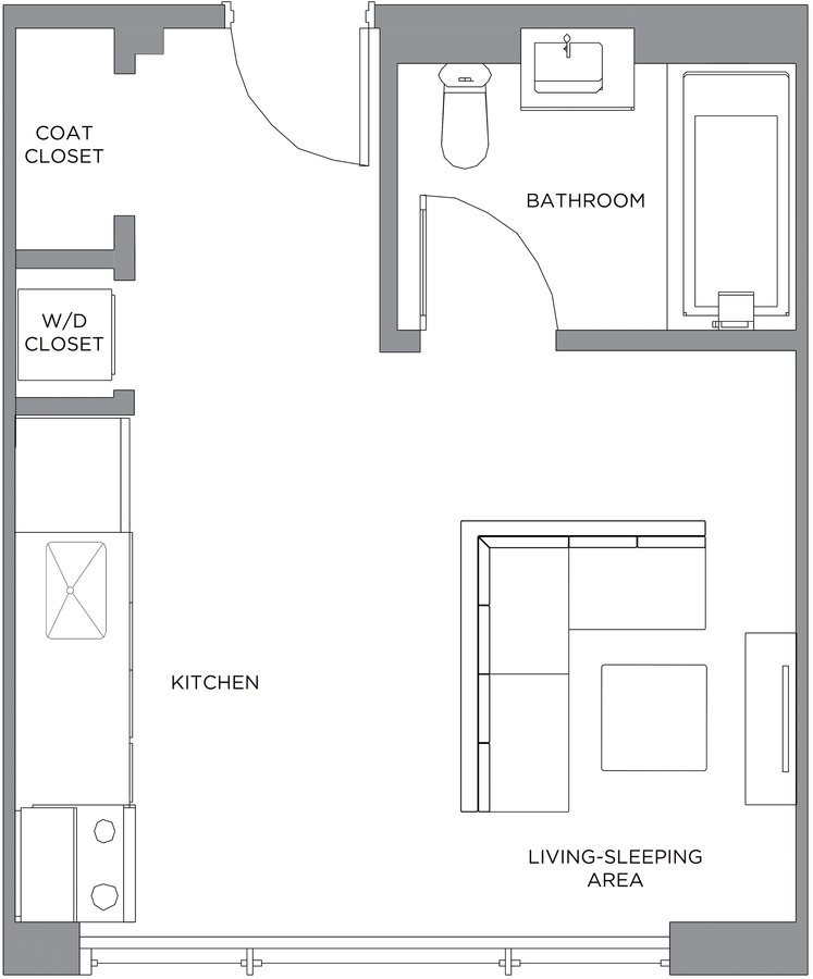 Studio 1 Bathroom Apartment for rent at Presidential City in Philadelphia, PA