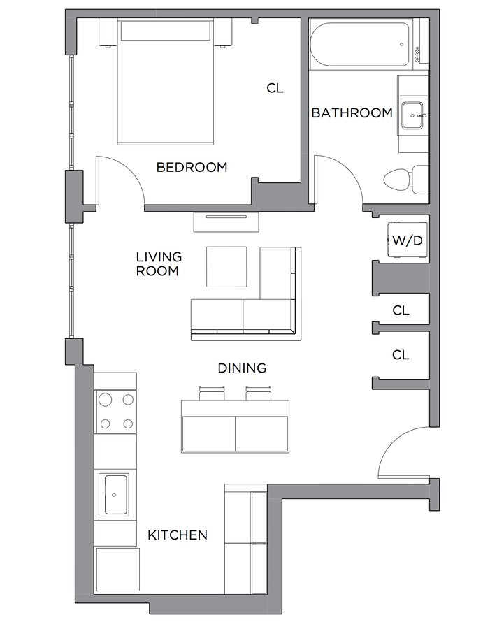 1 Bedroom 1 Bathroom Apartment for rent at Presidential City in Philadelphia, PA