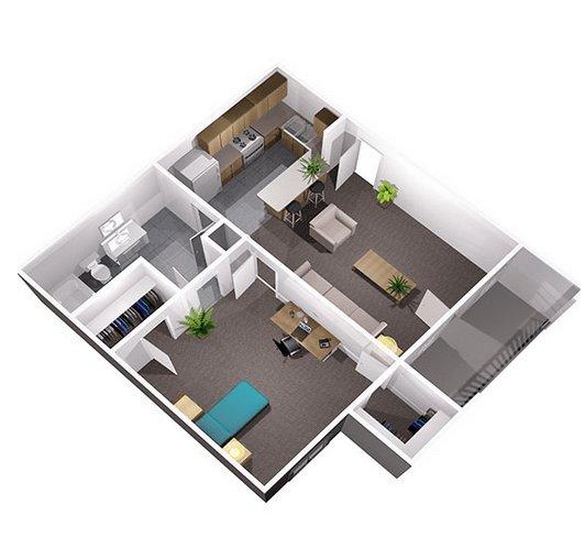 1 Bedroom 1 Bathroom Apartment for rent at Centennial Court in Arlington, TX