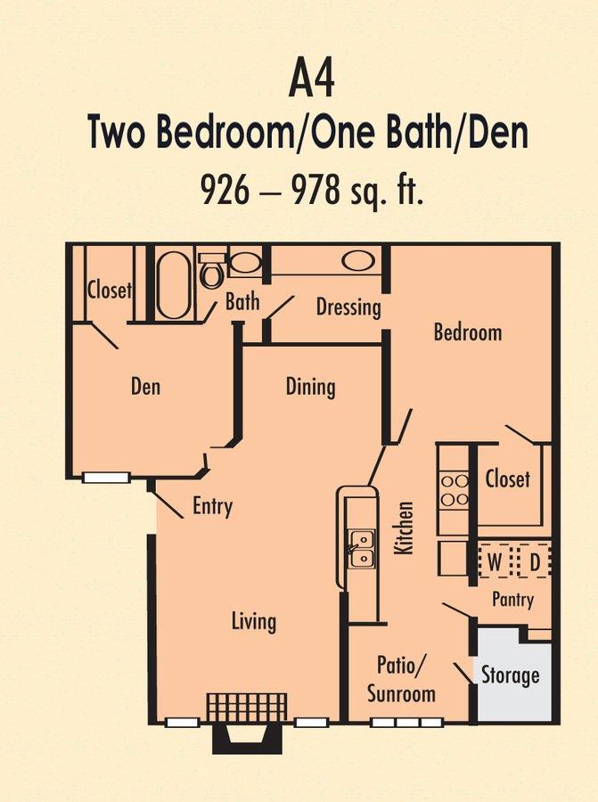 2 Bedrooms 1 Bathroom Apartment for rent at Villa Del Mar in Arlington, TX