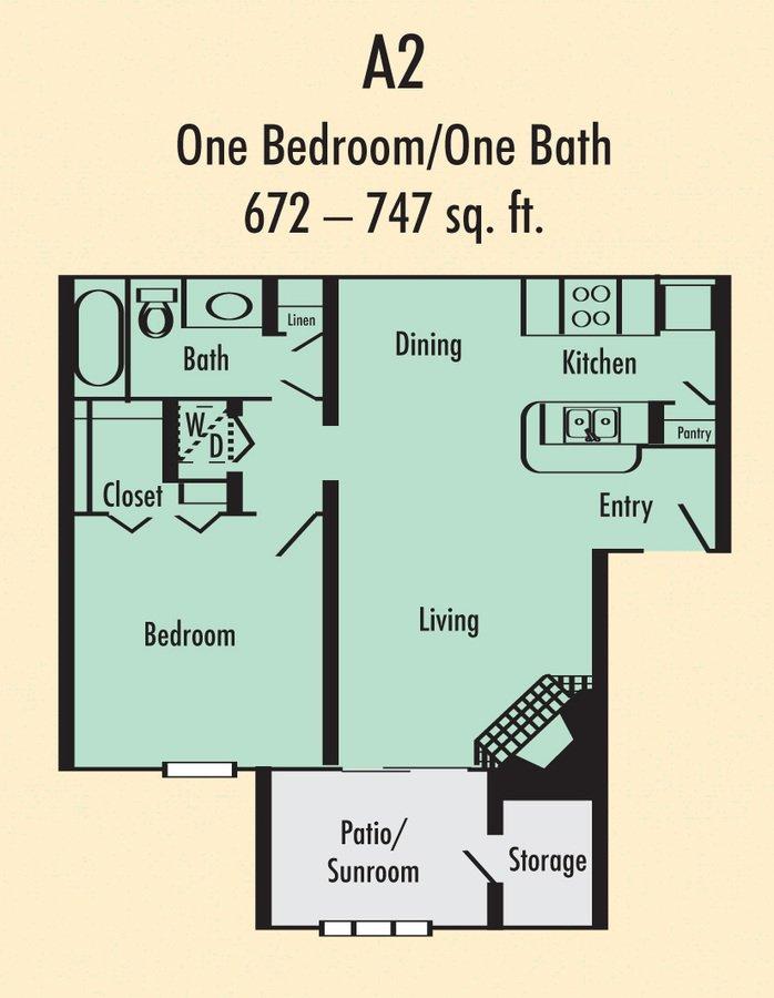 1 Bedroom 1 Bathroom Apartment for rent at Villa Del Mar in Arlington, TX