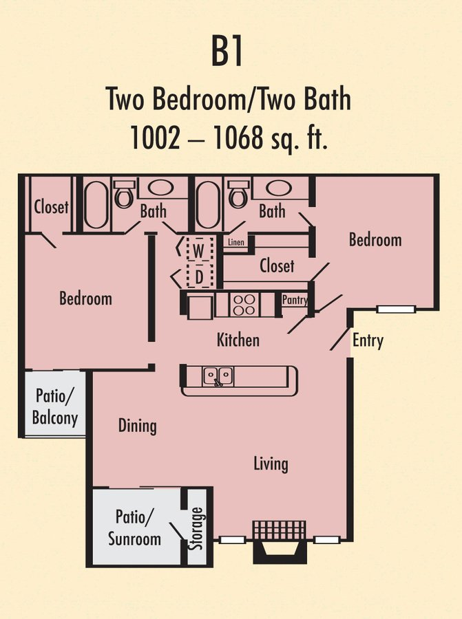 2 Bedrooms 2 Bathrooms Apartment for rent at Villa Del Mar in Arlington, TX