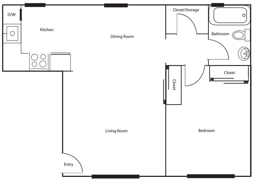 1 Bedroom 1 Bathroom Apartment for rent at The Greenery in Cincinnati, OH