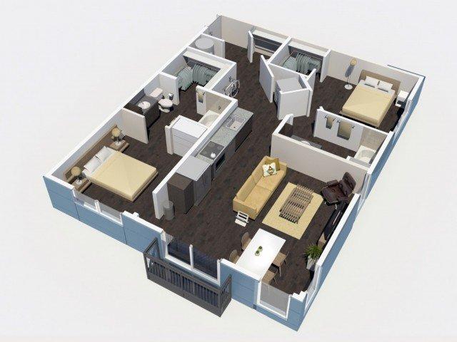 2 Bedrooms 2 Bathrooms Apartment for rent at Denizen in Denver, CO