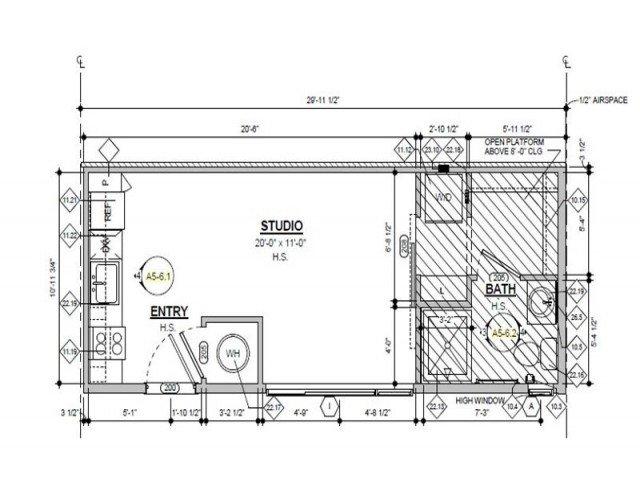 Studio 1 Bathroom Apartment for rent at Denizen in Denver, CO