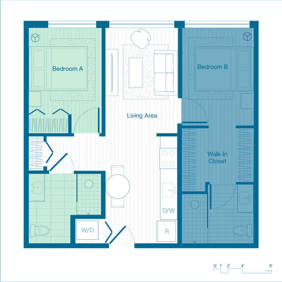 1 Bedroom 1 Bathroom Apartment for rent at X Denver (Phase I) in Denver, CO