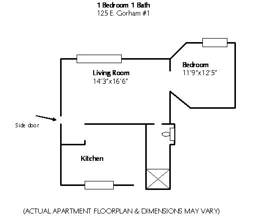 1 Bedroom 1 Bathroom Apartment for rent at 125 E Gorham in Madison, WI