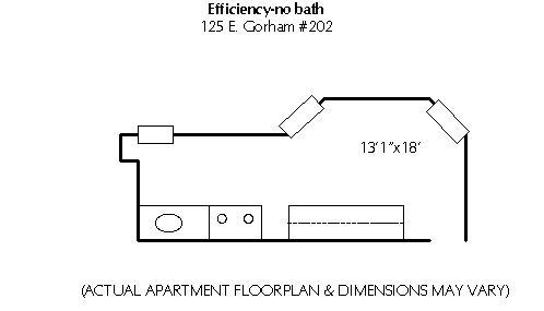 Studio 1 Bathroom Apartment for rent at 125 E Gorham in Madison, WI