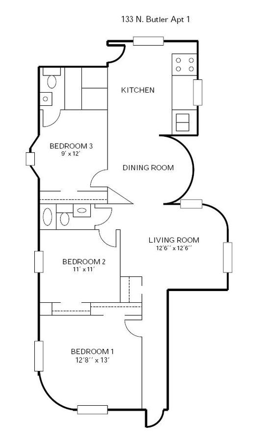 3 Bedrooms 2 Bathrooms Apartment for rent at 133 N Butler in Madison, WI