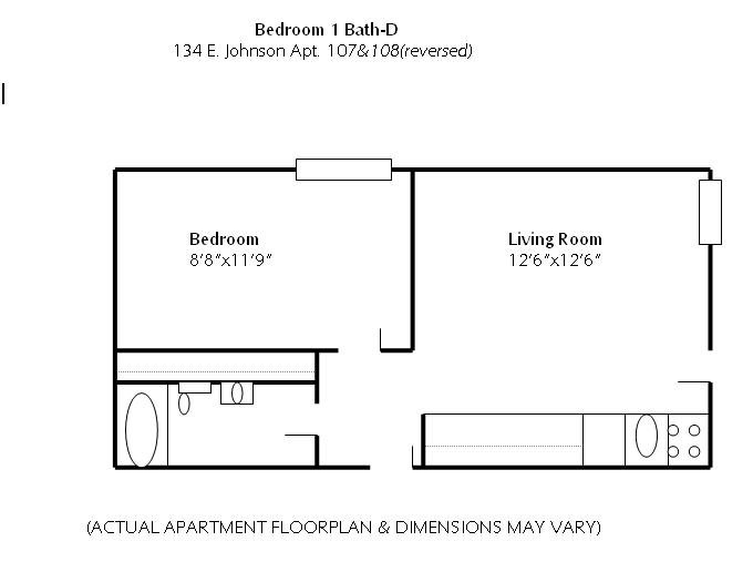 1 Bedroom 1 Bathroom Apartment for rent at 134 E Johnson in Madison, WI